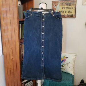 Gap Blue Jean button up.Skirt Size 16